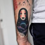 Double exposure Spirited Away tattoo