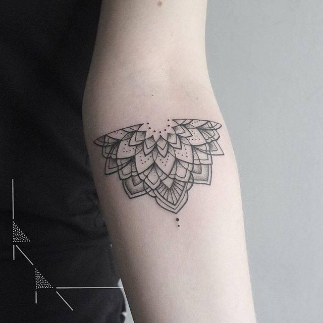 Half mandala by tattoist Rach Ainsworth