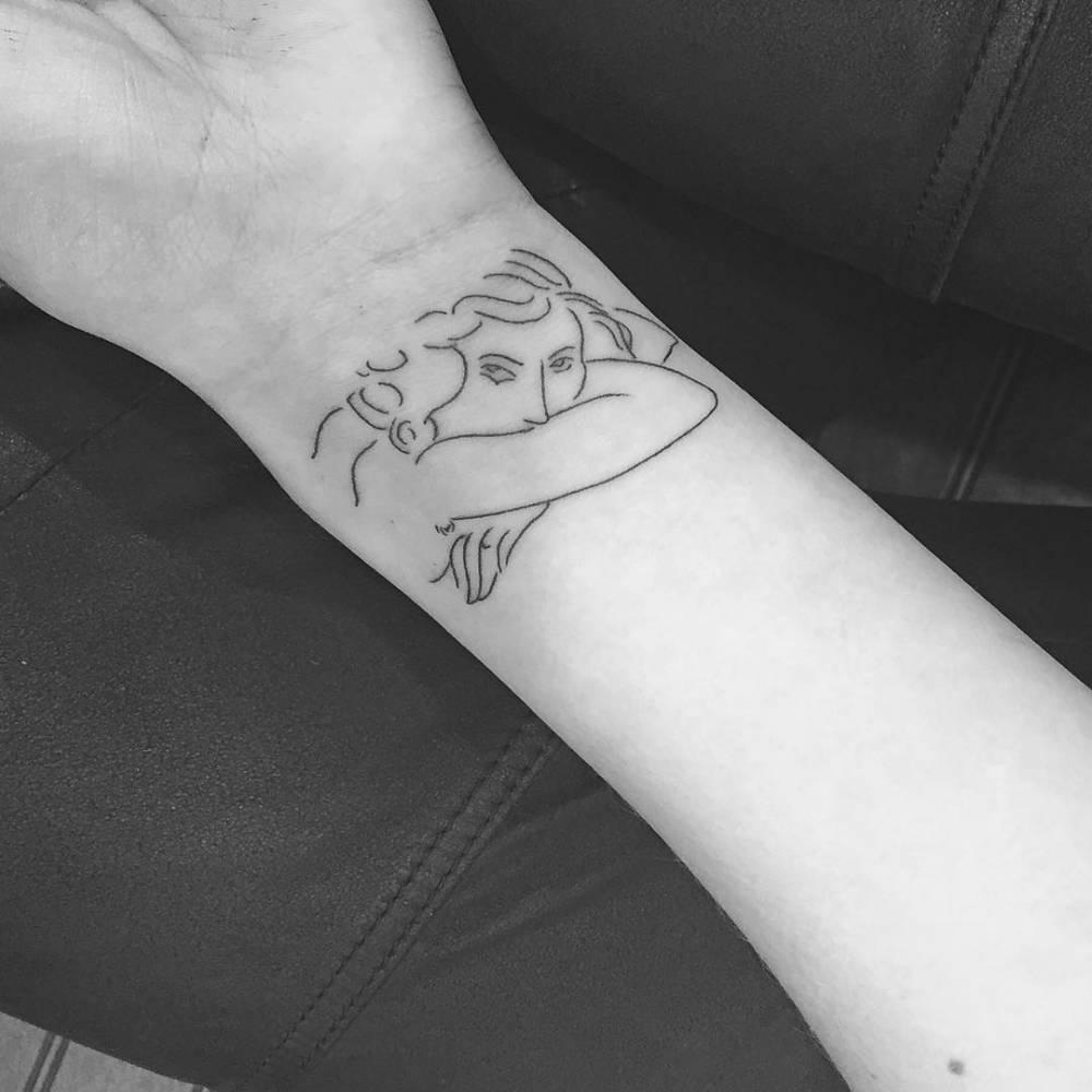 Henri Matisse inspired tattoo