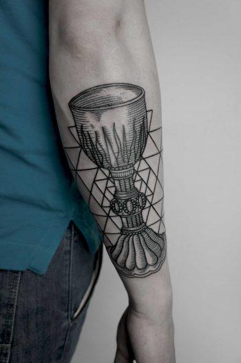 Holly Grail tattoo by Andrei Svetov