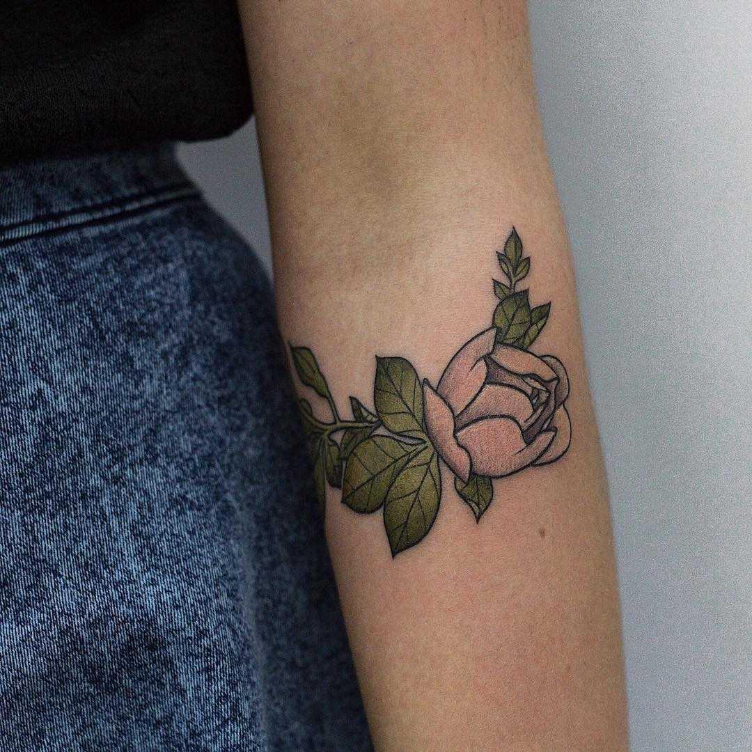 Little rosebud tattoo