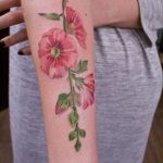 Malva tattoo on the forearm