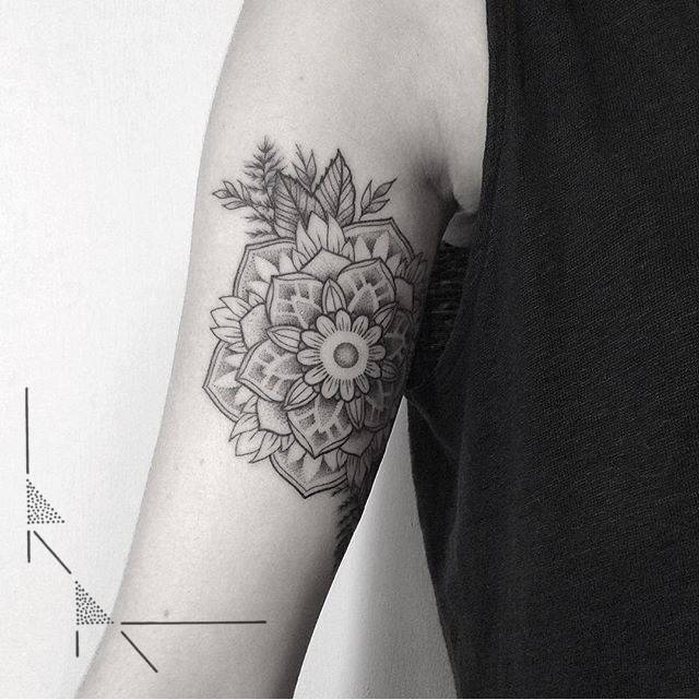 Mandala on the arm by Rach Ainsworth