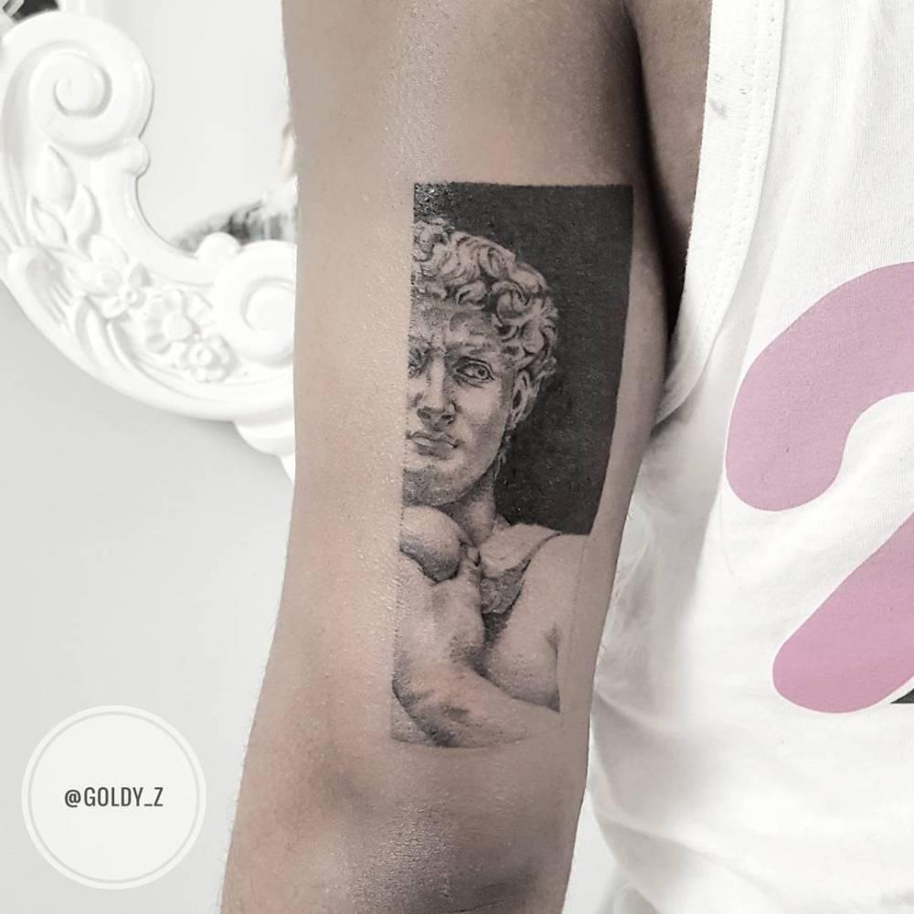 Michelangelo's David by Zlata Kolomoyskaya Goldyz