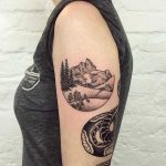 Mountain scenery tattoo by Tanya De Souza