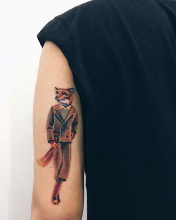 Mrs. Fox tattoo