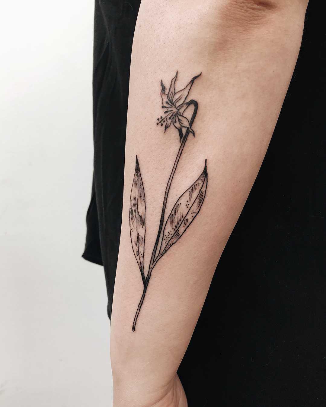 Oregon wild lily tattoo