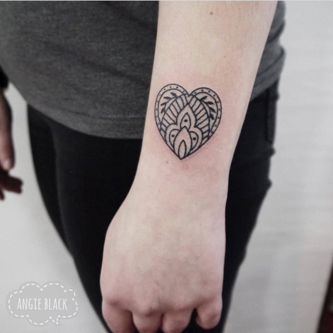 Ornamental heart by Angie Noir