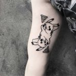 Pikachu and pizza tattoo by Oliwia Daszkiewicz