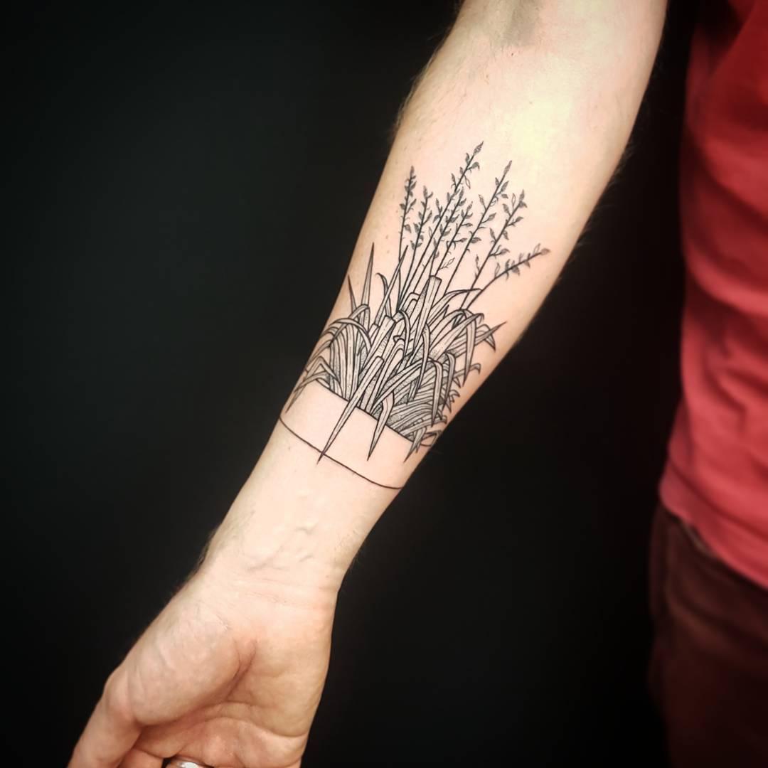 Plant armband tattoo