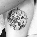 Robot love tattoo by lma Riera