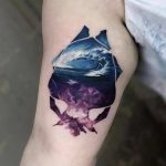 Sea and sky tattoo by Serkan Demirboğa