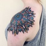 Shoulder mandala by Mico Tattoo