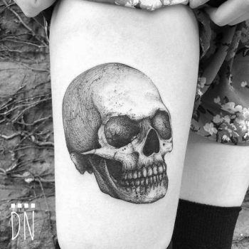 Skull tattoo by Dino Nemec