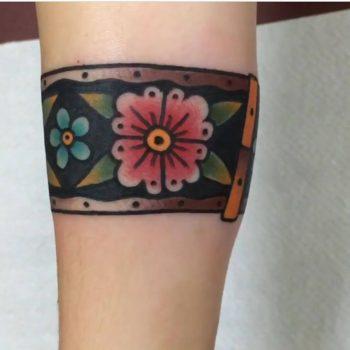 Traditional armband tattoo by Jeroen Van Dijk