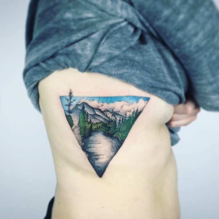 Triangular landscape by Unkle Gregory