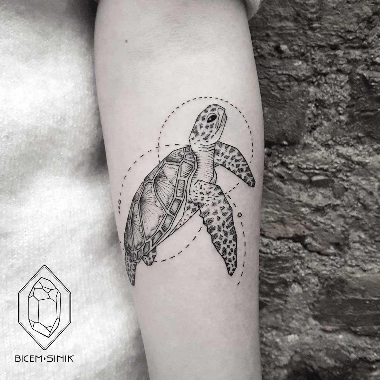 Turtle tattoo by Bicem Sinik