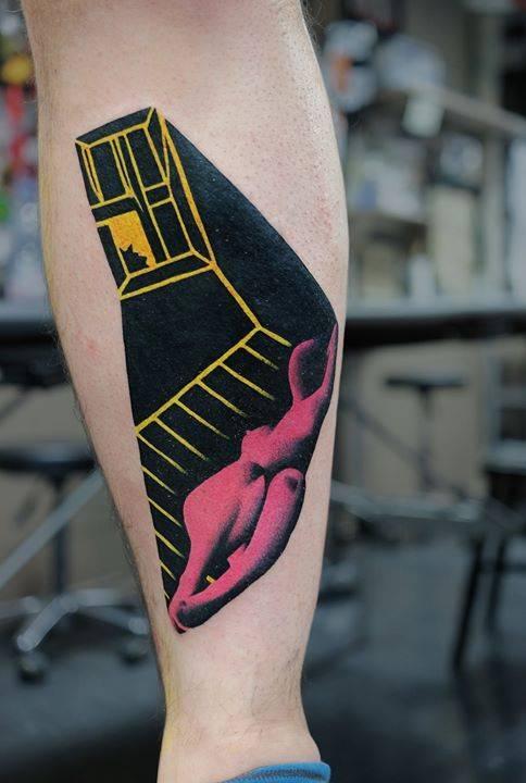 Window tattoo by Aleksy Marcinów