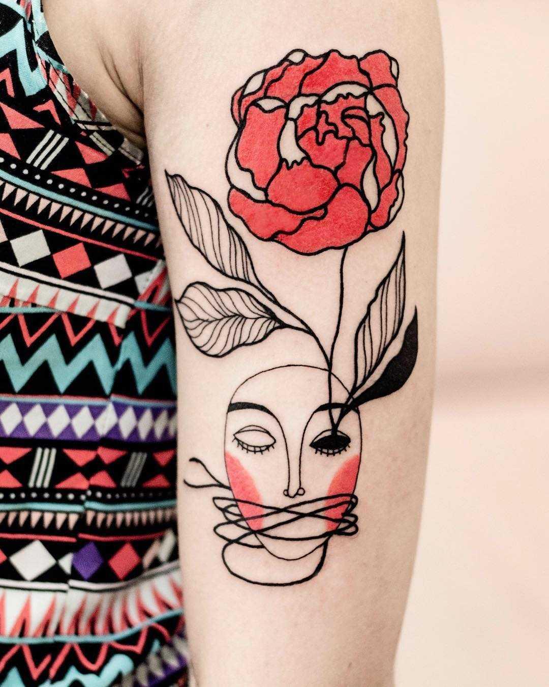 Abstract talisman tattoo