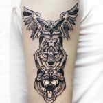 Animal spirit totem tattoo by Sasha Kiseleva