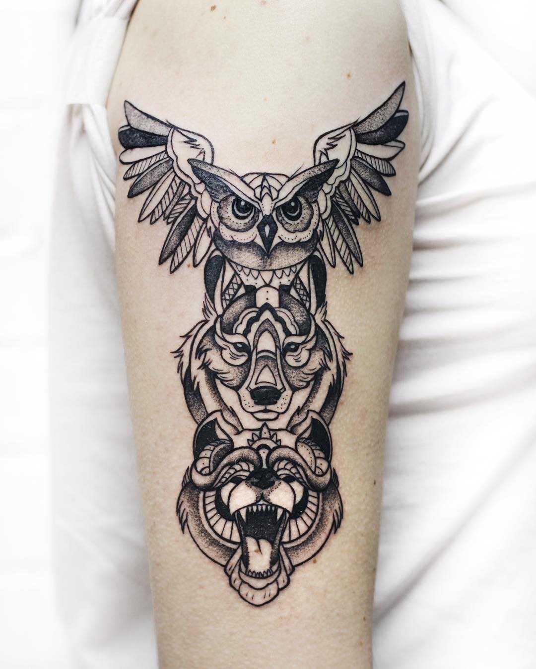 Animal Spirit Totem Tattoo By Sasha Kiseleva Tattoogridnet