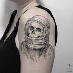 Astronaut skeleton tattoo by Marla Moon