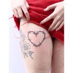 Barbed wire heart by tattooist Zaya