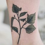 Birch branch tattoo on ankle