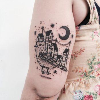 Bird town tattoo
