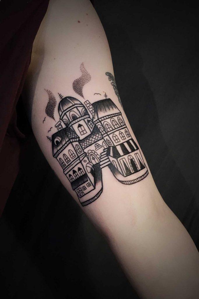 Black house tattoo