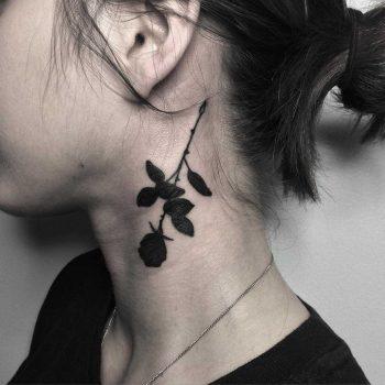 Black rose tattoo by Johnny Gloom