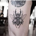 Blackwork beetle by Jonas Ribeiro