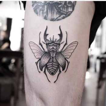 Blackwork beetle by Jonas Ribeiro