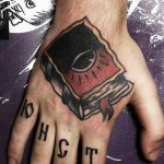 Book tattoo by Eugene Dusty Past