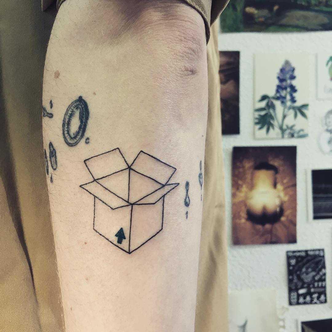 Box tattoo by Agata Agataris