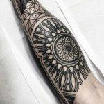 Calf tattoo by Wagner Basei