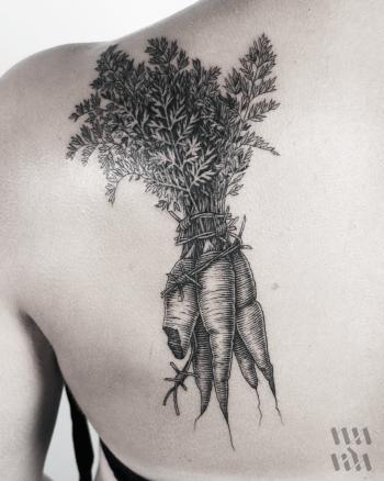Carrot bundle tattoo by Warda