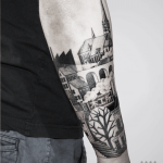 City landscape tattoo by Warda