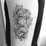 Collapsed column tattoo