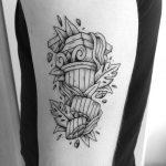 Collapsed column tattoo