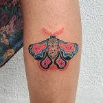 Colorful butterfly tattoo by Agata Agataris