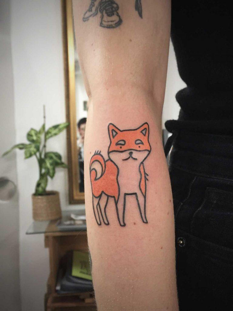 Cool fox tattoo