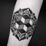 Cool geometry and mandala tattoo by Wagner Basei