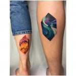 Couple's tattoo by Mavka Leesova