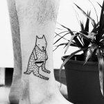 Cute kangaroo tattoo