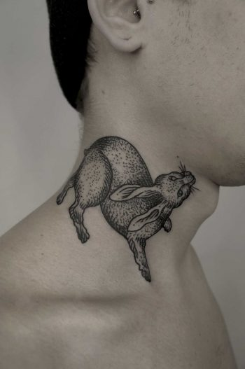 Cute rabbit on neck by SVA