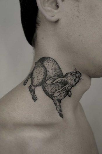 Cute rabbit on neck by SVA