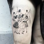 Dancing girls tattoo