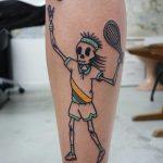 Dead tennis player tattoo