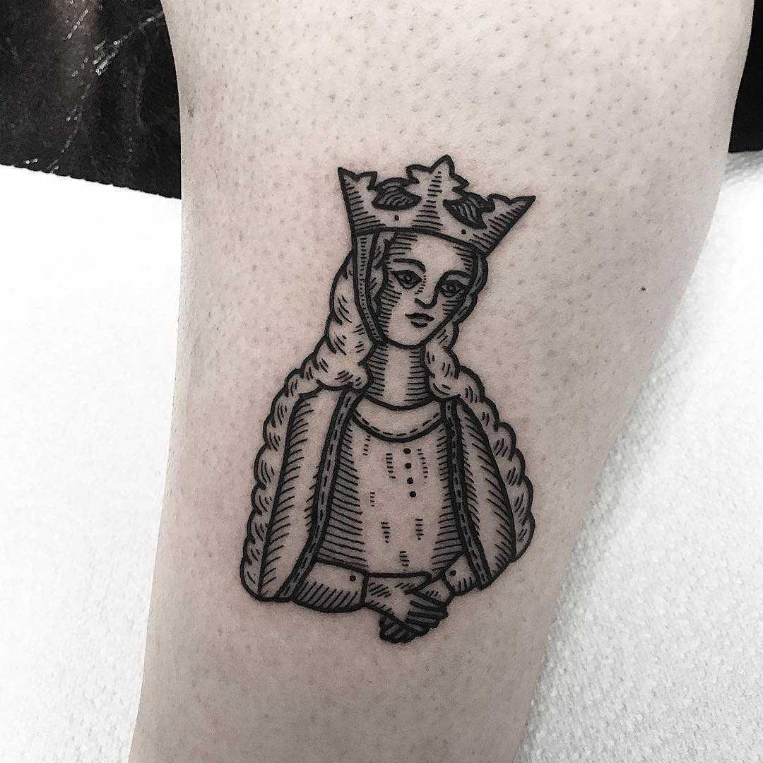 Eleanor of Aquitaine tattoo by Deborah Pow